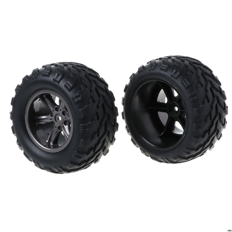 2pcs Upgraded Repair Parts 15-ZJ01 RC Car Spare Wheel Rubber Tires Tyres Accessories For Remote Control 1/12 S911/9115 Truck Toy