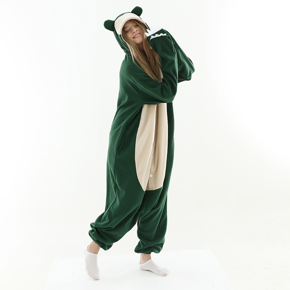 New Animal Cosplay Costume  Pokemon Snorlax Kigurumi Onesies Unisex Adult Cartoon Clothing Romper Pajamas For Adult And Teens