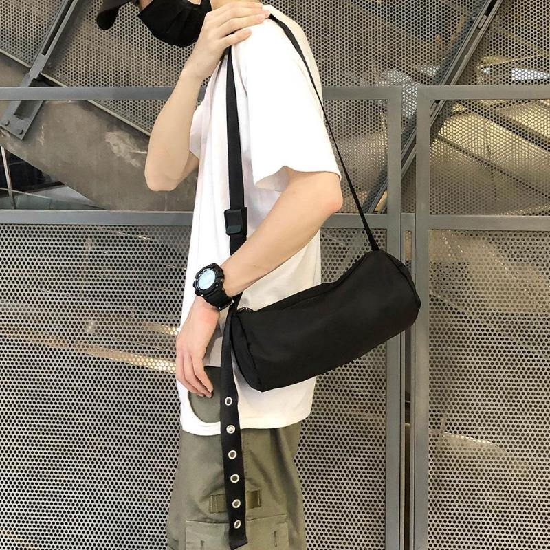 Cylinder Shaped Shoulder Messenger Bags For Men Women Nylon Casual Travel Crossbody Bag Handbag Bolsas Feminina Mujer Sac A Main