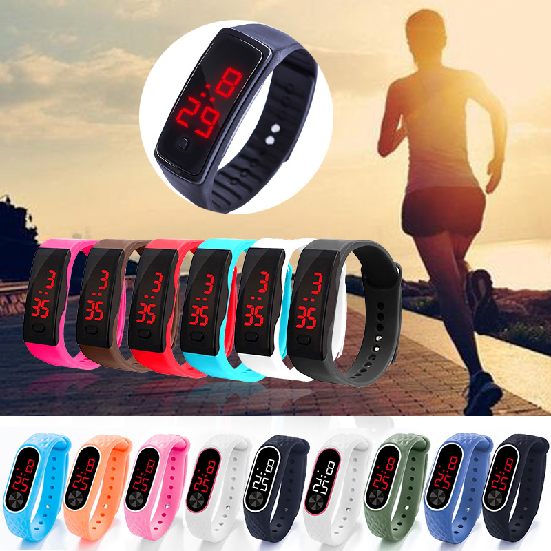 Fashion Women Men Sport Bracelet Watch Life Waterproof Kids Student LED Digital Watches Silica Gel  Wristwatch Thanksgiving Gift