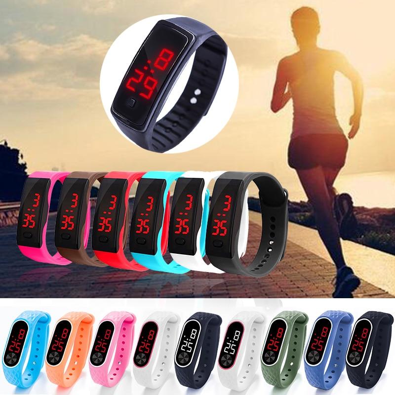Fashion Women Men Sport Bracelet Watch Life Waterproof Kids Student LED Digital Watches Silica Gel  Wristwatch Thanksgiving Gift