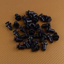 Beler черные нейлоновые автомобильные аксессуары 30 шт. нажимной бампер фиксатор крепления зажимы заклепки подходят для Nissan 01553-09241 0155309241