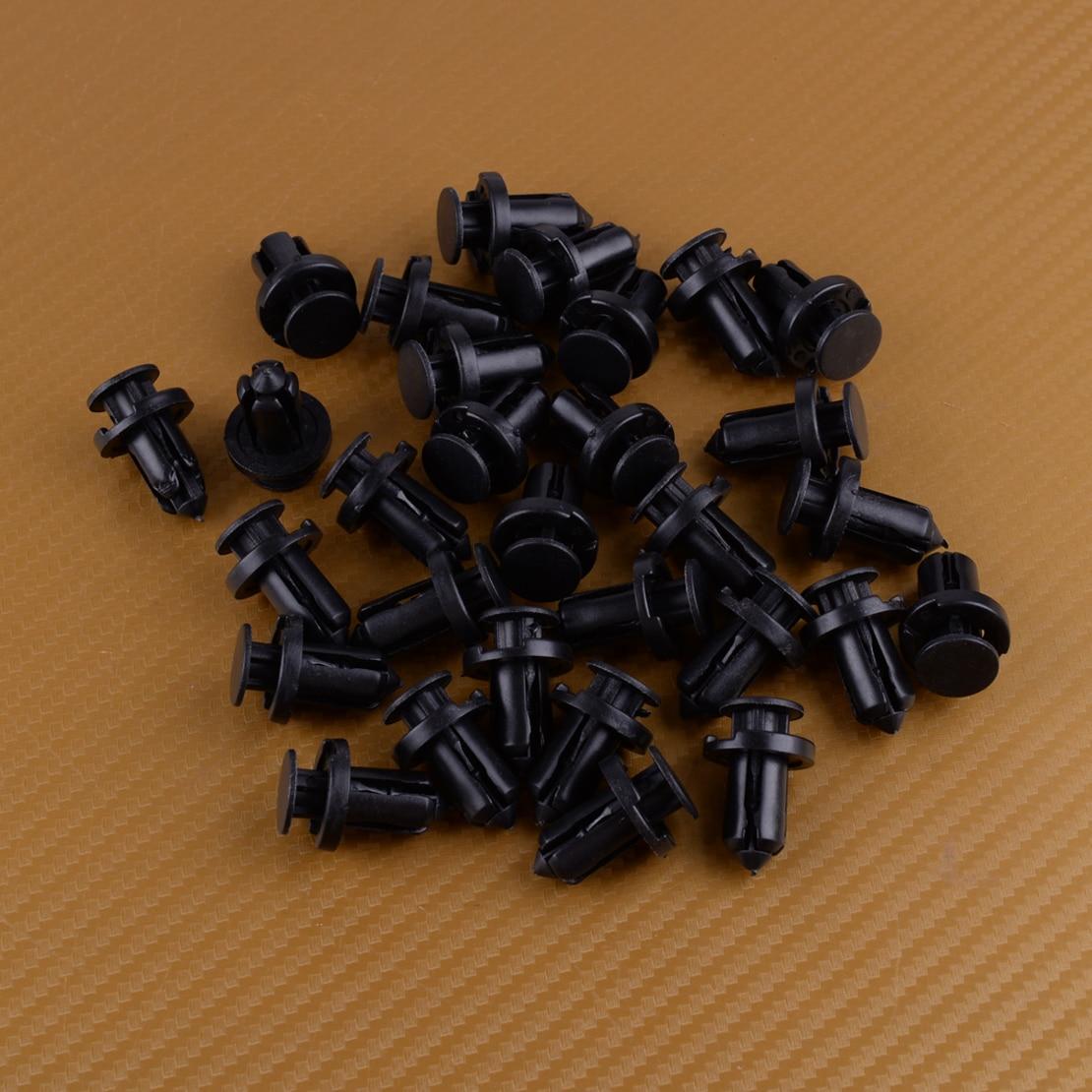 beler Black Nylon Car Accessories 30Pcs Push Type Bumper Fastener Retainer Clips Rivet Fit For Nissan 01553 09241 0155309241|Auto Fastener & Clip|   - AliExpress