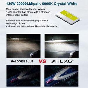 HLXG H7 светодиодный автоматический светодиодный лампочка фары H7 адаптер 6000 К яркий белый Canbus 20000LM 120 Вт 2шт для VW Golf GTi Passat MK7