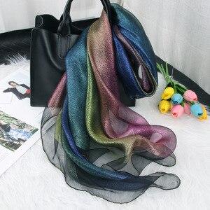 Image 5 - Новое поступление, женские шарфы, 2019 Шелковый шерстяной шарф для женщин, шаль из пашмины, накидка, шали и палантины, хиджаб, платок, бандана, пончо