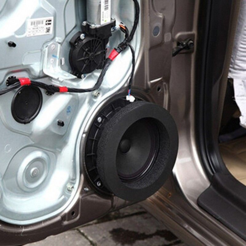 Newest  Car Door Speaker Bass Soundproof Insulation Ring Foam Pad Noise Accessory Soundproof Foam Ring