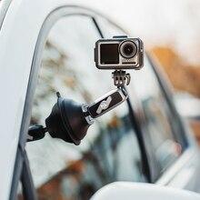 Câmera de ação pgytech osmo bolso 2 ventosa otário montagem para carro dji sucção disco de vidro 4k vídeo 3 eixos cardan gopro hero 8