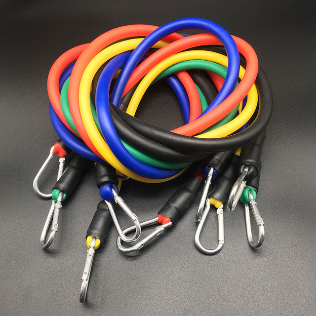 11 Bands Crossfit  Yoga Rohre Pull Expander  Bands Fitness