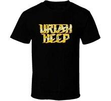 Uriah Heep Classic Rock N Roll Vintage Worn Look Music T Shirt Fashion Cotton Tops Size S-4X