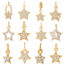 Star Pendant Charms Necklace Earrings Bracelet-Make Jewelry-Making Copper for Designer