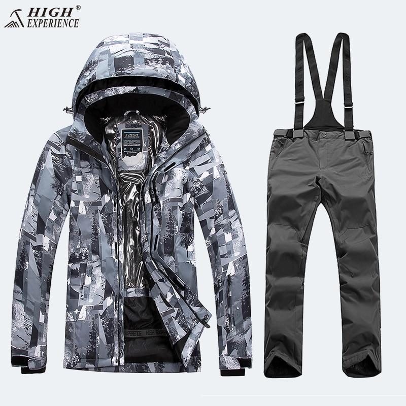 Thermal Winter Suit Men Ski Suit Men Snowboard Suit Male Winter Skiing Suit Snowboarding Sport Suit Men Snowboard Snowsuit Warm