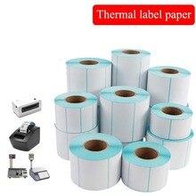 Горячая продажа клей тепловой штрих-код этикетки наклейка бумага супермаркета цене пустой ярлык прямая печать водонепроницаемый расходные материалы для печати