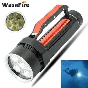 Poderoso 10000 lumens led lanterna à prova dwaterproof água mergulho tocha XM-L2 26650 caça subaquática mergulho lanterna lâmpada