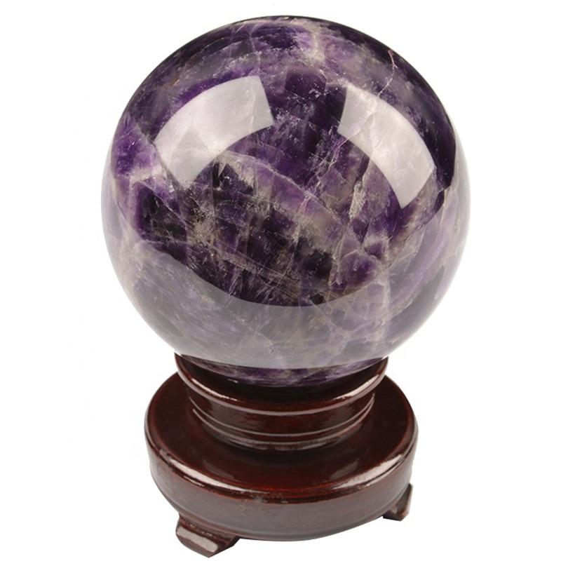 1 pièce 100mm ameublement violet améthyste cristal pierre boule rêve améthyste quartz sphère
