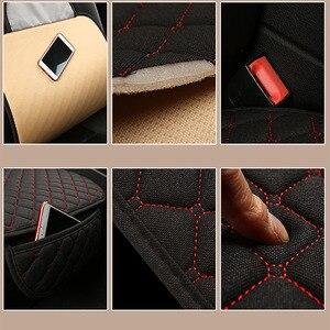 Image 5 - Grote Maat Vlas Auto Seat Cover Protector Linnen Voorste Of Achterbank Kussen Pad Mat Rugleuning Voor Auto Interieur truck Suv Van