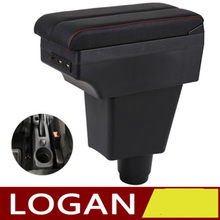 For Renault Logan 2 Armrest Box Logan 2 Universal Car Central Armrest Storage Box modification accessories(China)