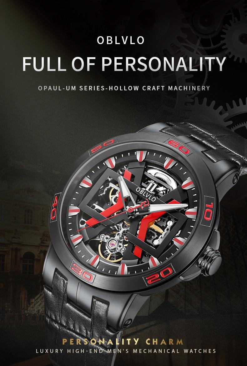 OBLVLO New Beautiful Automatic Sport Watch 2021