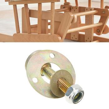 Nakrętka śruby zestaw śrub akcesoria meblowe 1 zestaw kołysania duże krzesło złącze bujane krzesło złącze meble X7J8 tanie i dobre opinie KITPIPI Other Rocking chair connector