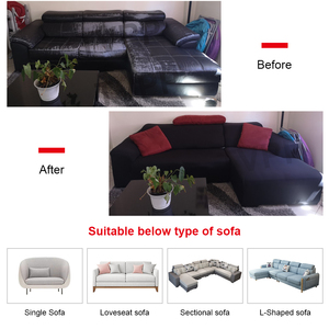 Image 3 - Elastic Stretch Sofa Cover 1/2/3/4 Seater Sof Slipcover Couch Covers for Universal Sofas Livingroom Sectional L Shaped Slipcover
