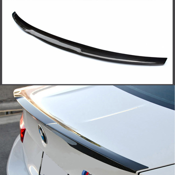 M4 Style Carbon Fiber Rear trunk boot Wing spoiler For BMW E90 2005~2012