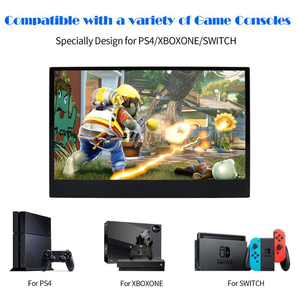 WIMAXIT Hd Monitor Laptop-Telefon Xbox-Schalter Usb-Typ Dünne Tragbare Lcd Hdmi für Und Ps4 schalter gaming monitor