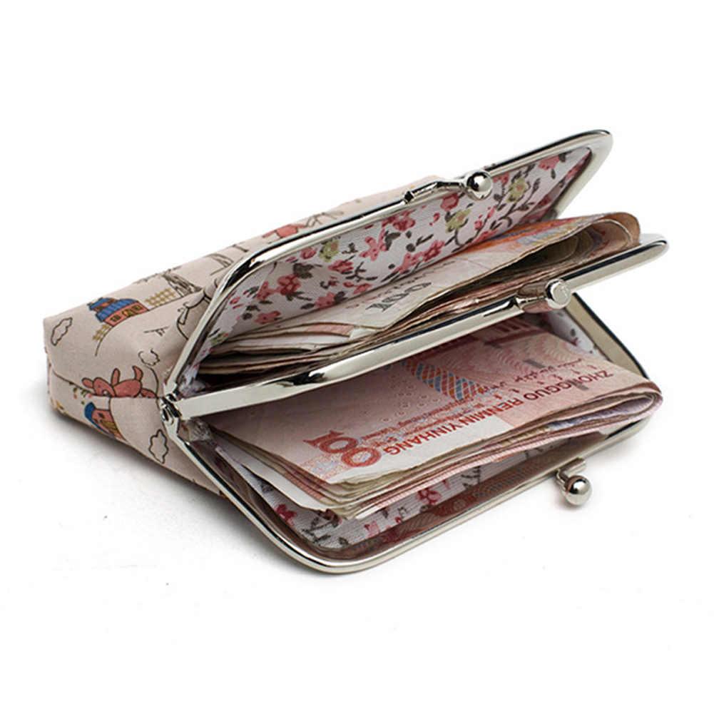 Leinwand Frauen Geldbörse Kleine Tasche Nette Blume Gedruckt Geld Tasche Geldbörse Mädchen Mini Tasche für Damen Geldbörse kinder brieftasche Geldbörsen