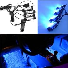 4 x 3 Leds Car Interior Lighting Atmosphere LED Strip