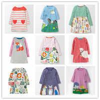 VIDMID kids Dresses girls baby new clothing cotton applique animals princess clothes dresses kids girls long sleeve dresses