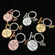 Multicolor Graduation Gift Keychain Engraved My Story Is Just Beginning Class Of 2020 Stainsteel Steel Jewelry Friends Gift(China)