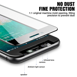 Image 3 - Защитное стекло с закругленными краями 99D для iPhone 7 8 6 6S Plus, закаленное стекло для экрана iPhone X XR XS Max