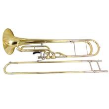 F ключ trabass тромбон с Чехол и мундштук триггер тромбон Музыкальные инструменты
