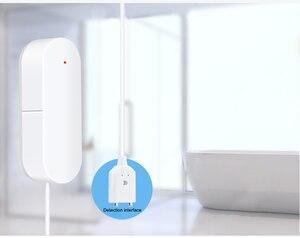 Image 3 - WIFI sygnalizator przecieku wody inteligentne mobilne czujki alarmy czujnik alarmowy poziomu wody wyciek Home Securit kontrola aplikacji bezpieczeństwo w domu