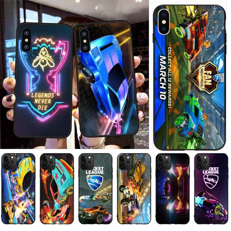 HPCHCJHM Rocket League TPU black Phone Case Cover Hull for iPhone 11 pro XS MAX 8 7 6 6S Plus X 5S SE 2020 XR case