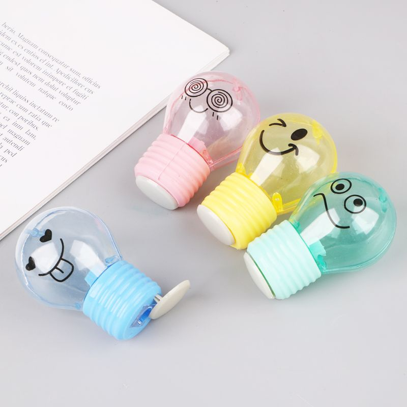 Mini Light Bulb Mechanical Pencil Sharpener Stationery Office Student School Supply Kids Gift