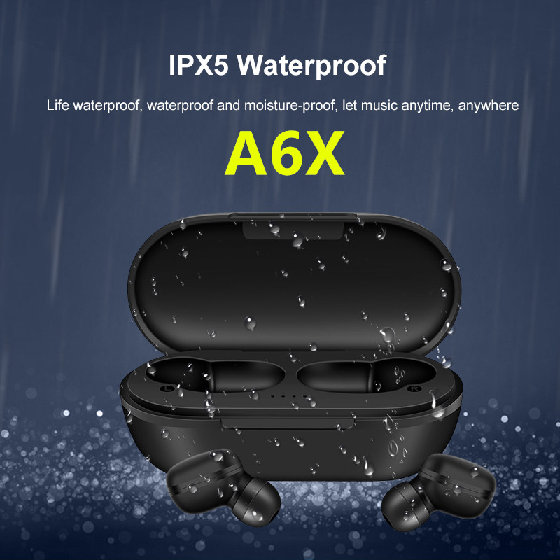 A6X 5,0 TWS Bluetooth Headsets Für <font><b>Xiaomi</b></font> Airdots Drahtlose Ohrhörer Kopfhörer Noise Cancelling Mic für Redmi iPhone Huawei Samsung 5.0 Earphones 8D Stereo wireless bluetooth earphone Gaming headset for realme x2 <font><b>pro</b></font> image