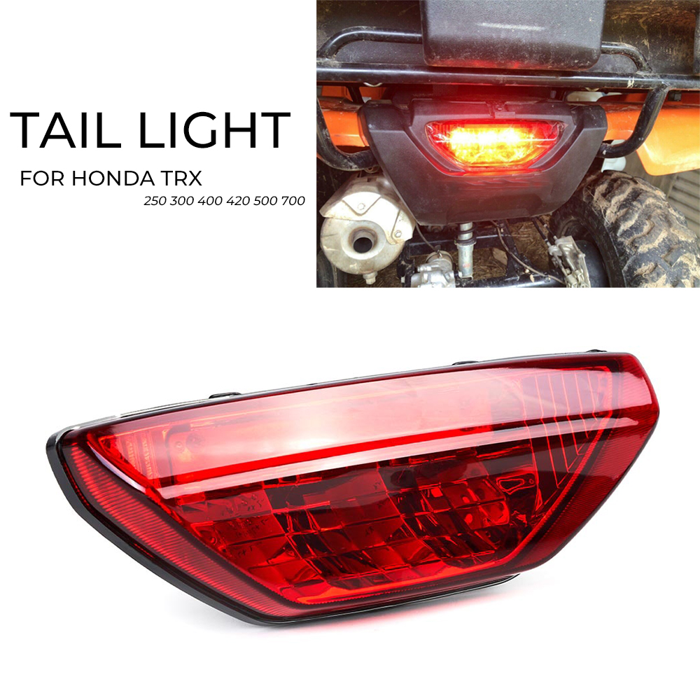 Red Tail Light Taillight for <font><b>Honda</b></font> TRX420 TRX500 Rancher <font><b>Foreman</b></font> <font><b>TRX</b></font> 400EX RUBICON TRX250 2006-2014 2015 image