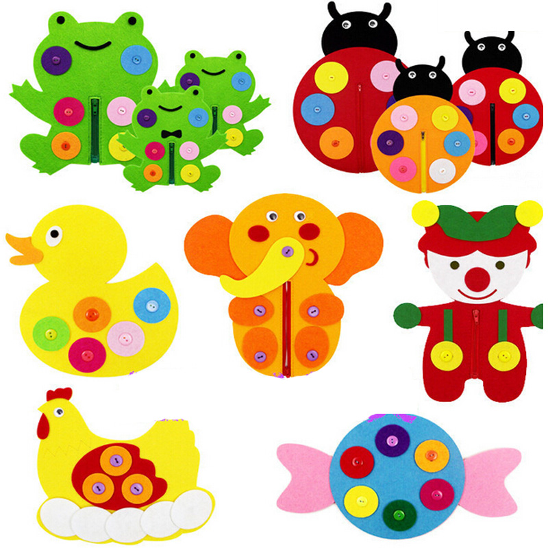 Diy Weave Cloth Early Learning Education Toys Hand Zipper Button Teaching Kindergarten Manual Montessori Teaching Aids Math Toys