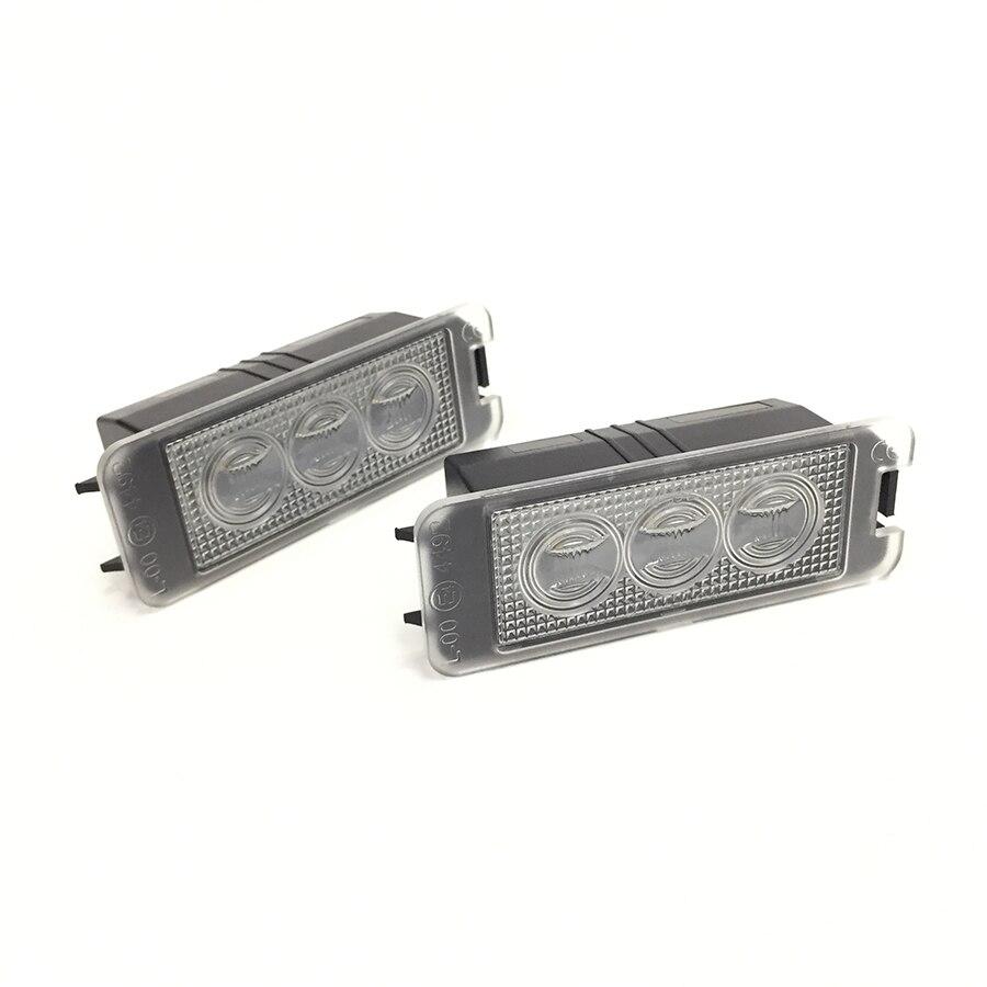 Montaje de lámpara de LED para placa de matrícula CANBUS sin errores 3 SMD para SEAT Leon Mk2 1P Leon Mk3 5F Exeo Sedan Exeo ST