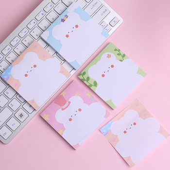 Creativo coreano Kawai notas adhesivas decoración Bloc de notas marcapáginas diario colorido Animal lindo oso dibujos animados divertido encantador papelería infantil