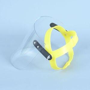 Image 3 - Proteção protetora do trato respiratório da máscara protetora da prova de poeira do respingo da saliva das viseiras sobresselentes da tela do protetor da máscara protetora da cara da segurança do pc