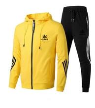 Men's new brand clothing suit sportswear 2-piece hoodie + pants men's sweater suit sports suit jacket