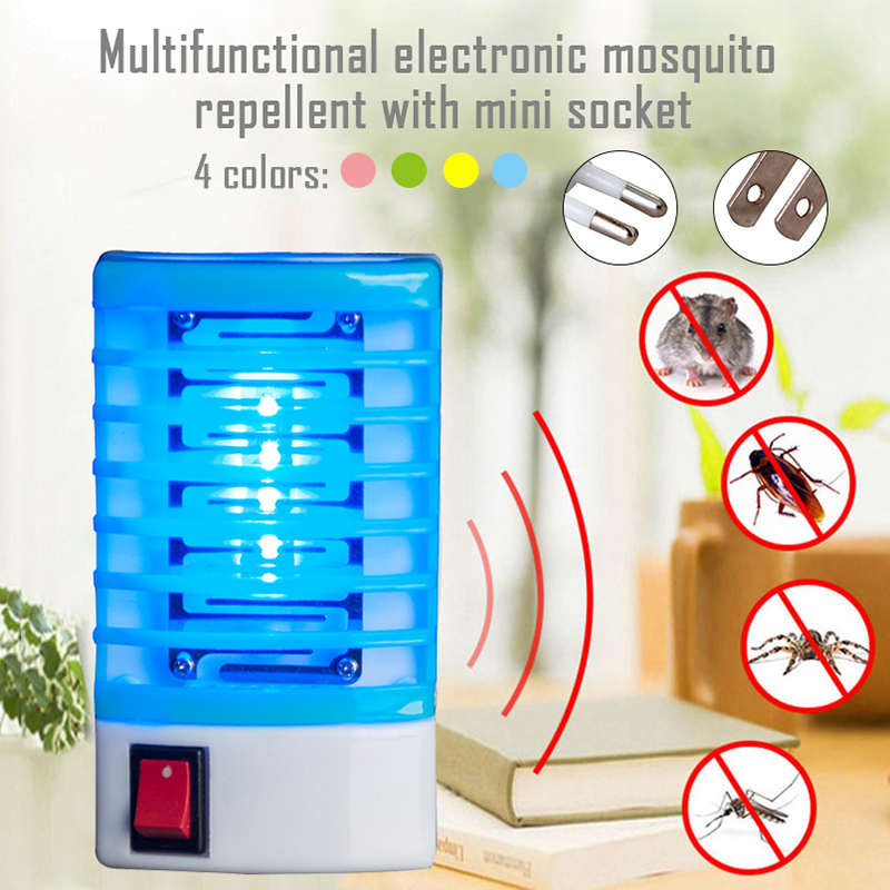 Mosquito Killer Lamps LED Electric Mosquito Repellent Fly Bug Insect Trap Killer Zapper Lamp Light EU Plug Mosquito Killer Light