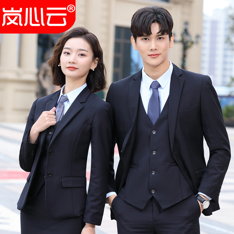 2019 Wear Formal Wear Men And Women Celebrity Style Suit Set Business White Collar Real Estate Manager Office Work Clothes
