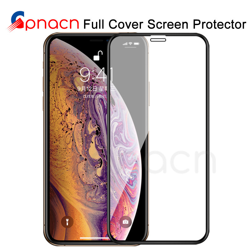 99D Protective Tempered Glass On The For IPhone 6 6s 7 8 Plus X 10 Glass Screen Protector Soft Edge Curved For IPhone XR XS MAX
