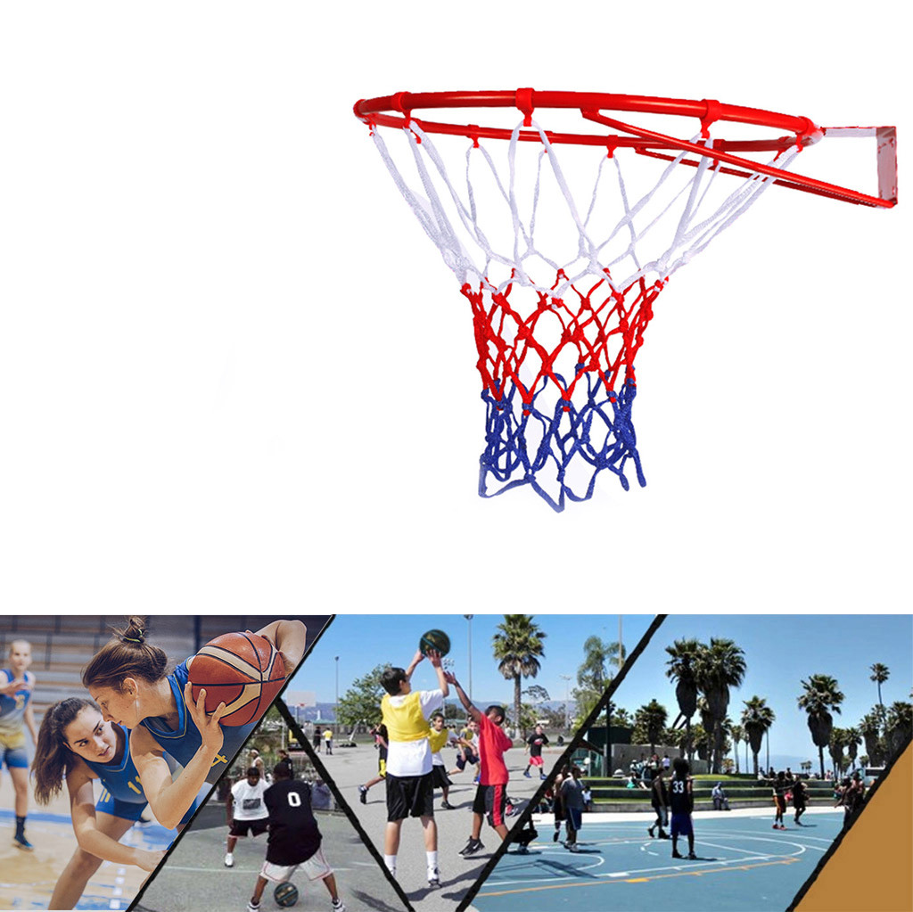 45 Cm Hanging Basketball Wall Mounted Goal Hoop Rim For Outdoors Indoor Very Durable Sports Hoop Basketball Rim With Net 22g3