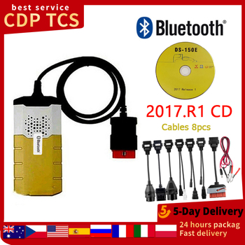OBD DS150E delphis Bluetooth 2017.R1 autocom CDP TCS VCI diagnostic repair tool obd2 scanner with DS150E car diagnostic CDP TCS 2020 delphis ds150e new vci diagnostic tool for autocom ds 150 tcs cdp pro plus obd2 with led and flight function free shipping