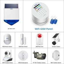 Customized Kit KERUI W2 Wifi GSM  Home Alarm PSTN Telephone Landline APP ISO 433MHz RFID Security