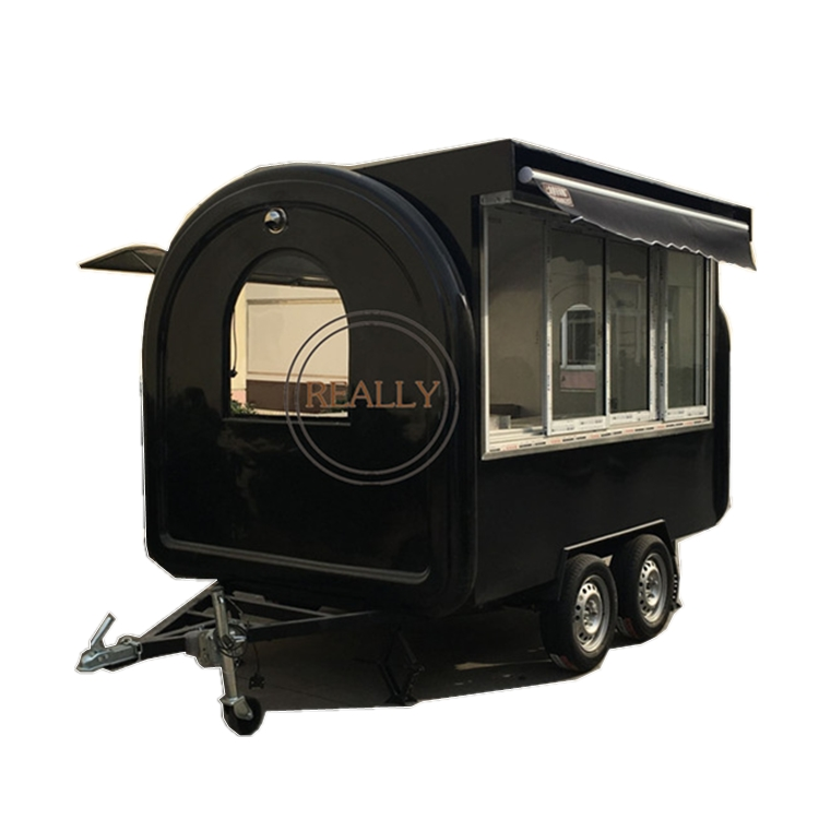 Double Axles Color Customized Street Outdoor Fast Food Van Food Truck Cart Classic Cars Fast Mobile Food Truck