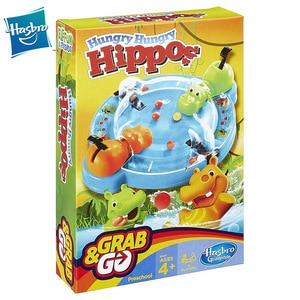 Hasbro-Juego de mesa de hipopótamo Hungry para niños, juego de mesa de batalla portátil, versión de viaje, fiesta familiar, juguetes para entretenimiento, equipo de construcción