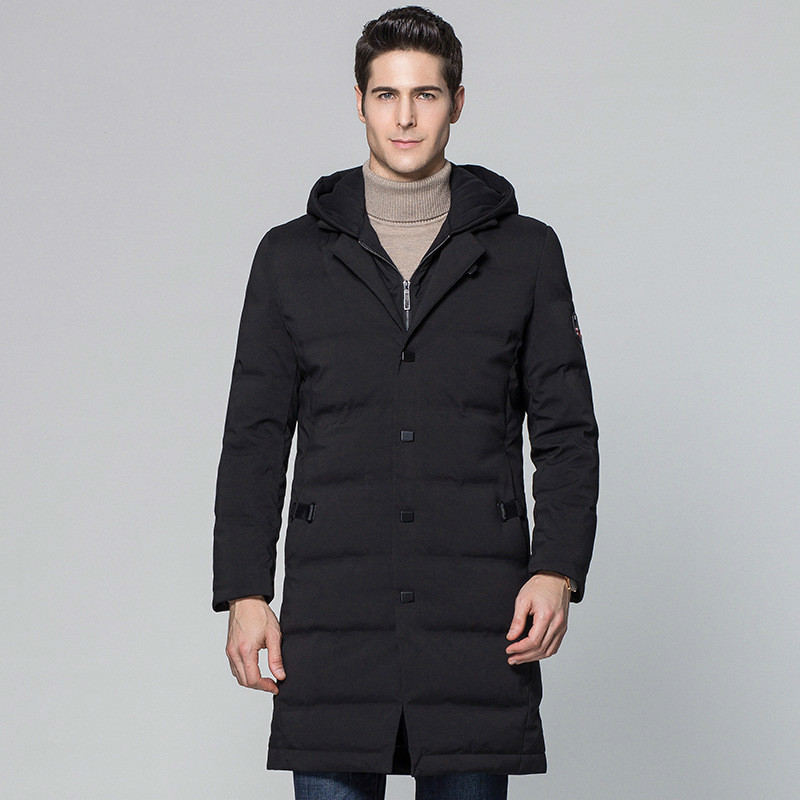 Winter Hooded Duck Down Jacket Men Long Warm Down Coat Men's Jackets 2020 New Parka Overcoat Casaco Masculino KJ570